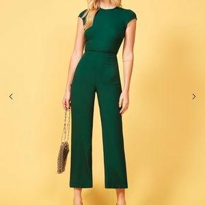 🌟nwot Reformation Green Mayer jumpsuit size 2